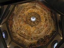 Le dernier jugement sur le dôme du Duomo, Florence, Italie image libre de droits