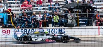 Le dernier puits de Tony Kanaan avant de gagner Indy 500 2013 photographie stock libre de droits