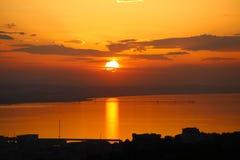 Le dernier soleil du jour photos stock