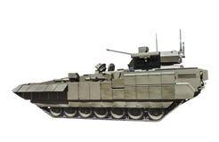 Le dernier véhicule de combat russe d'infanterie est isolé sur un blanc photographie stock