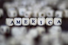 Le ` des Etats-Unis de ` a imprimé sur des matrices avec dans le premier plan et le fond Photo libre de droits