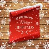 Le deseamos un fondo de la Feliz Navidad muy Fotos de archivo