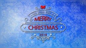 Le deseamos un lazo de Frost de ventana de la Feliz Navidad 4K ilustración del vector