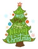 Le deseamos una Feliz Navidad Foto de archivo libre de regalías