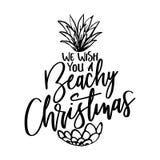 Le deseamos una Navidad con playas ilustración del vector
