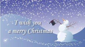 Le deseo una Feliz Navidad Ilustración del Vector