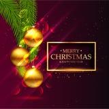 le design de carte saisonnier de salutation de festival impressionnant de Noël avec disparaissent illustration stock