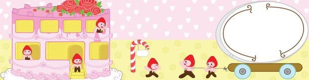 Le dessert doux à la maison durcit l'amour illustration stock