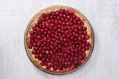 Le dessert organique fait maison de tarte aux cerises tout préparé, se ferment  Cherry Tart photo stock
