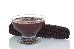 Le dessert péruvien a appelé Mazamorra Morada images stock