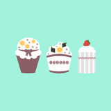 Le dessert a placé 2 Photographie stock libre de droits