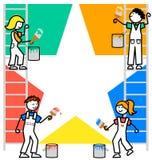 Le dessin animé badine le fond de travail d'équipe/ENV Photographie stock libre de droits
