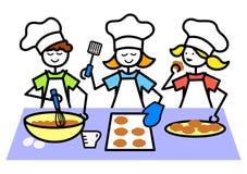 Le dessin animé badine les biscuits de traitement au four/ENV Images stock