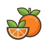 le dessin animé 3d objecte l'orange au-dessus du blanc de photo Photographie stock