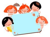 Le dessin animé mignon badine la trame Images stock
