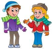 Le dessin animé badine l'image 1 de thème Image stock