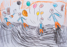 Le dessin des enfants Photos libres de droits