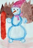 Le dessin des enfants Photos stock