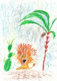 Le dessin des enfants bonnes fêtes ! Image libre de droits