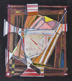 Le dessin fabriqué à la main abstrait représentant s'est étendu sur une mère de cadre Images stock