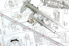 Le dessin, les détails et le calibre Image stock
