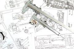 Le dessin, les détails et le calibre Photos libres de droits