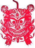 Le dessin-modèle du Chinois papier-a coupé Images libres de droits