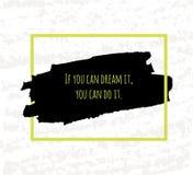 Le dessin typographique de main d'affiche sous forme de citations et les expressions pour soulever le moral et la bonne humeur so illustration de vecteur