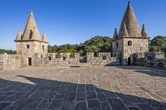 Le dessus de toit du château de Feira gardent Photo stock