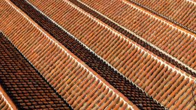 Le dessus de toit de la mosquée grande dans Chefchaouen, Maroc Image stock