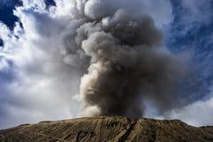 Le dessus du cratère volcanique Images libres de droits