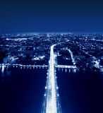 Le dessus du pont de Rama VIII, Bangkok, Thaïlande image stock