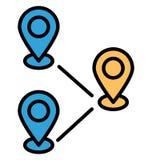 Le destinazioni della stampa hanno isolato l'icona di vettore che può modificare o pubblicare facilmente illustrazione vettoriale