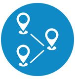 Le destinazioni hanno isolato l'icona di vettore che pu? modificare o pubblicare facilmente illustrazione vettoriale