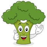 Le det gulliga tecknad filmteckenet för broccoli Royaltyfri Bild