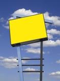 Le devanture de magasin signent dedans le jaune, d'isolement Photos libres de droits