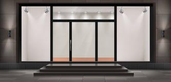 Le devanture de magasin de vecteur, vident la salle d'exposition lumineuse illustration libre de droits