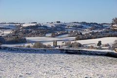 Le Devon dans la neige Images stock