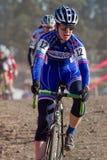 Le Devon Gorry - pro coureur de Cyclocross de femme Image libre de droits
