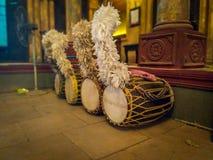 Le dhak est un instrument énorme de membranophone de l'Asie du sud images stock