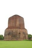 Le Dhamekh Stupa chez Sarnath, Inde Image libre de droits