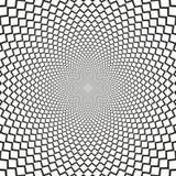 Le dièse d'illusion optique de vecteur raye le fond noir et blanc Photos libres de droits