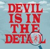 Le diable est de la série d'affaires d'abrégé sur détail Images stock