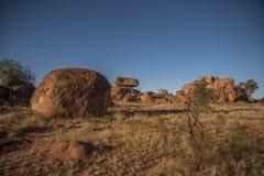 Le diable marbre l'Australie Images stock