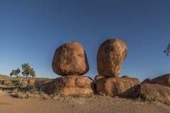 Le diable marbre l'Australie Photos stock