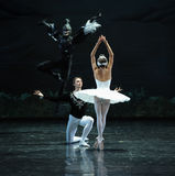 Le diable vient lac swan de calme-ballet Photos libres de droits