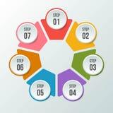 Le diagramme de cercle, entourent le diagramme infographic ou circulaire illustration stock