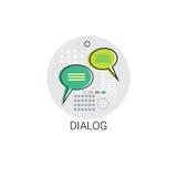 Le dialogue communiquent l'icône sociale de message de communication de réseau de causerie illustration de vecteur