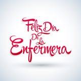 Le diamètre de la Enfermera de Feliz, Espagnol heureux de jour d'infirmières textotent Photos libres de droits