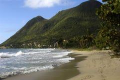 Le Diamant海岸在马提尼克岛 免版税库存图片